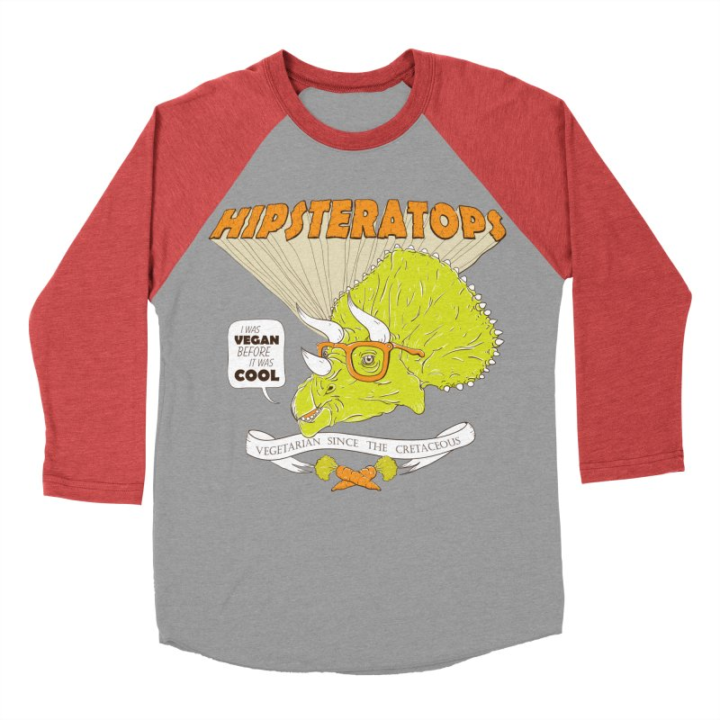 Hipsteratops Men's Baseball Triblend T-Shirt by buddynishi's Artist Shop