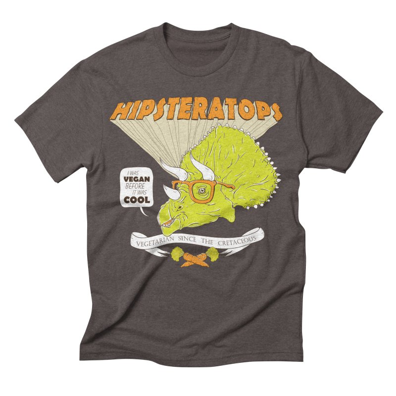 Hipsteratops Men's Triblend T-shirt by buddynishi's Artist Shop