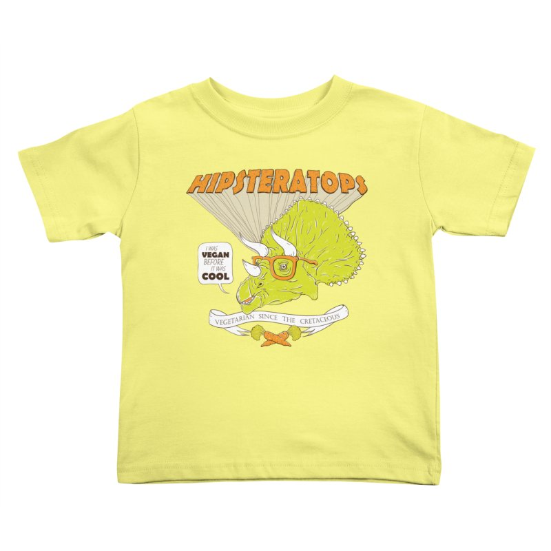 Hipsteratops Kids Toddler T-Shirt by buddynishi's Artist Shop