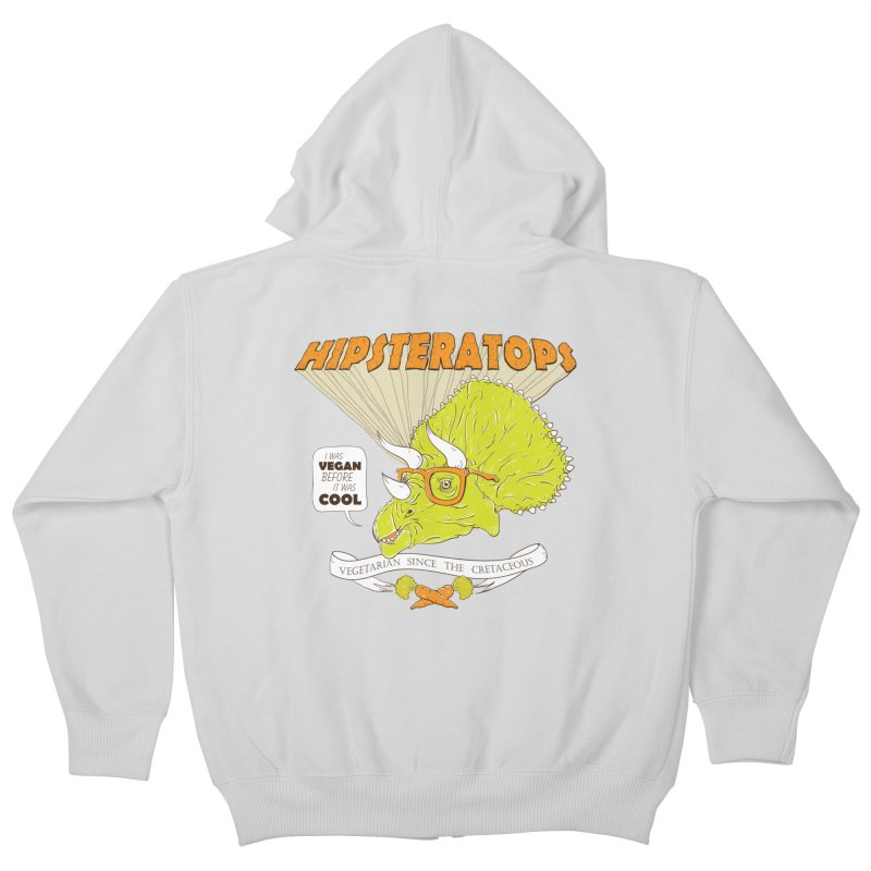Hipsteratops Kids Zip-Up Hoody by buddynishi's Artist Shop