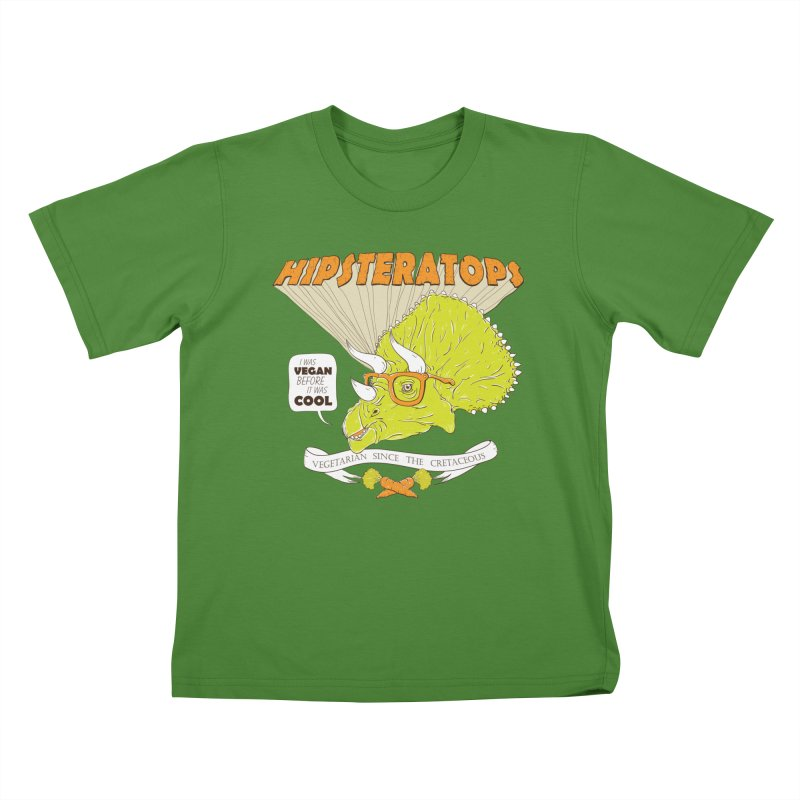 Hipsteratops Kids T-Shirt by buddynishi's Artist Shop