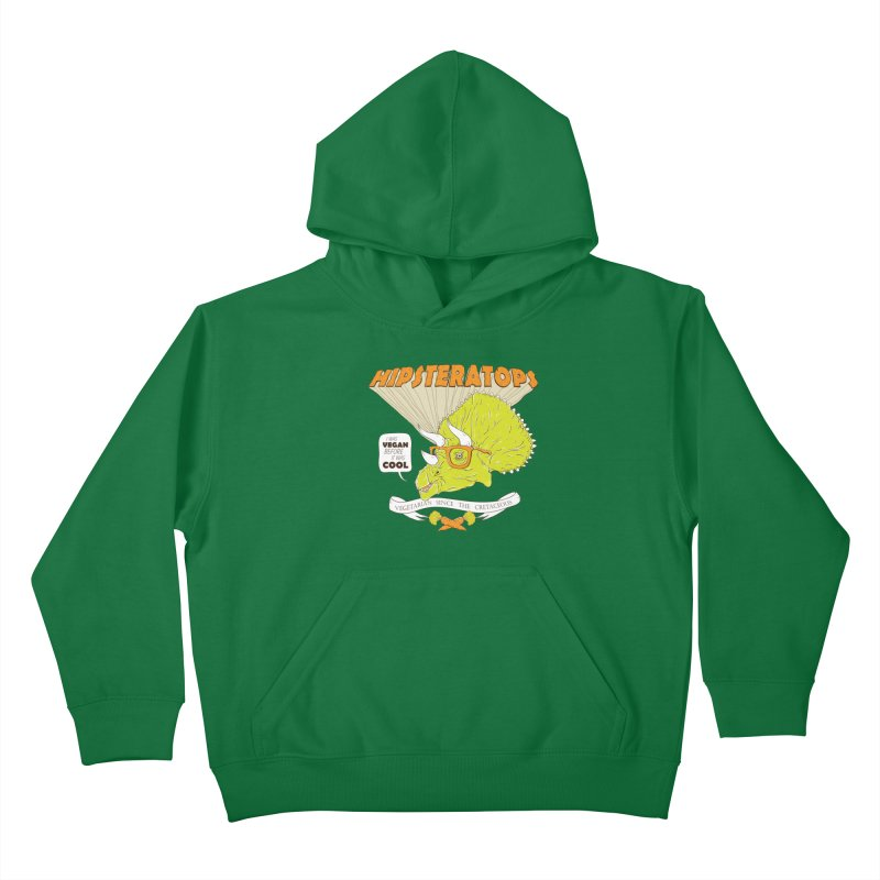 Hipsteratops Kids Pullover Hoody by buddynishi's Artist Shop