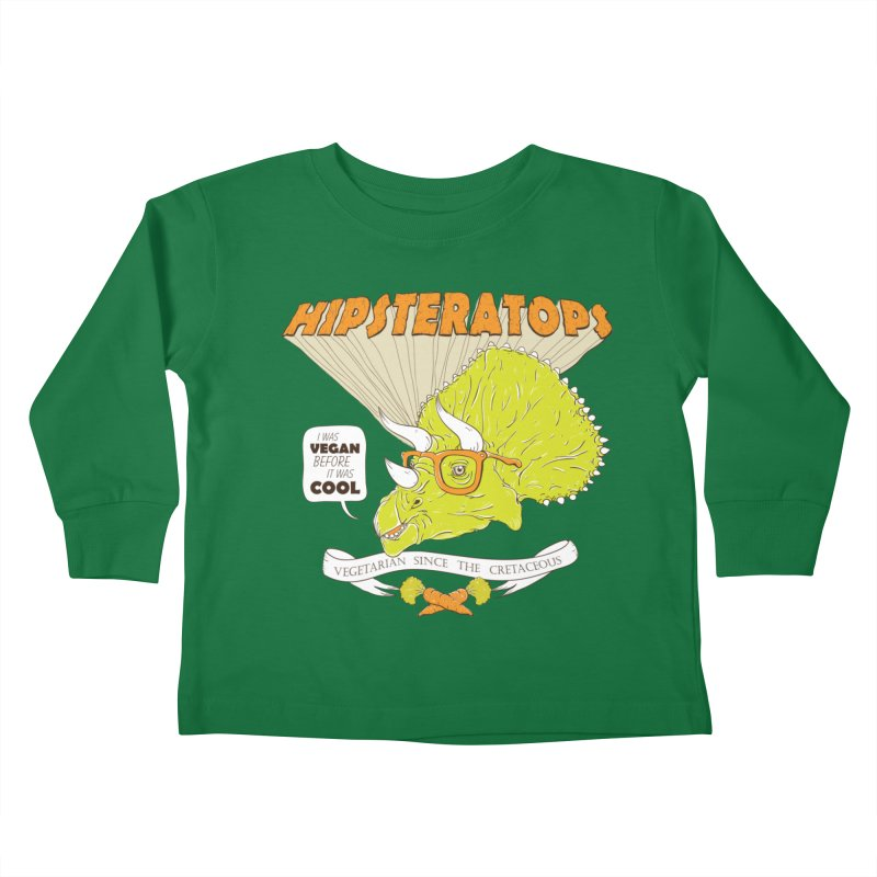 Hipsteratops Kids Toddler Longsleeve T-Shirt by buddynishi's Artist Shop