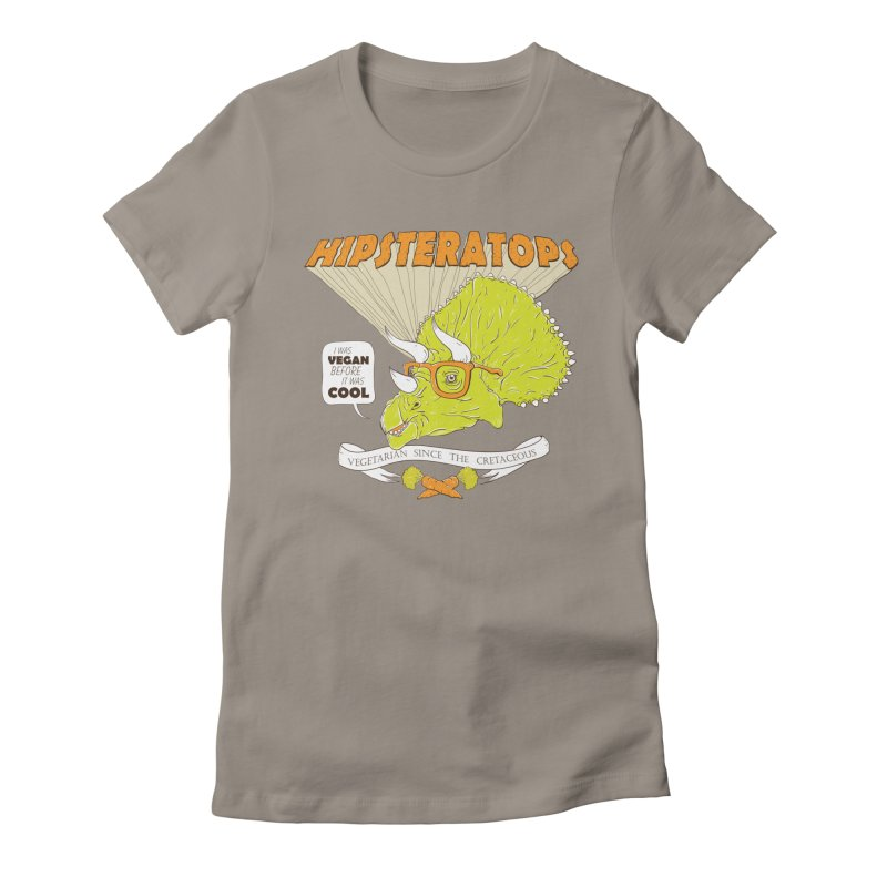 Hipsteratops Women's Fitted T-Shirt by buddynishi's Artist Shop