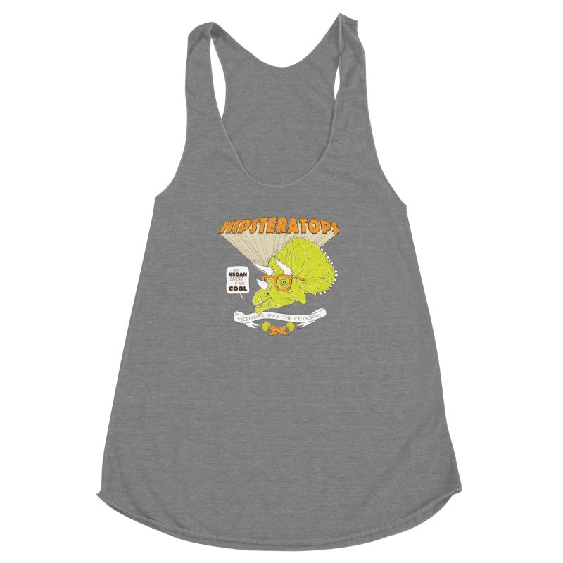 Hipsteratops Women's Racerback Triblend Tank by buddynishi's Artist Shop