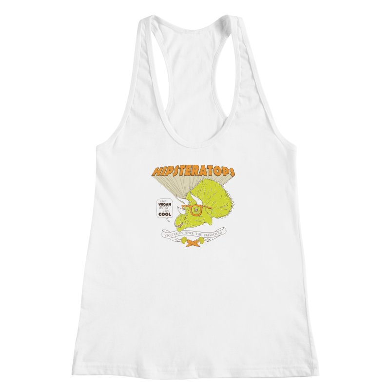 Hipsteratops Women's Racerback Tank by buddynishi's Artist Shop