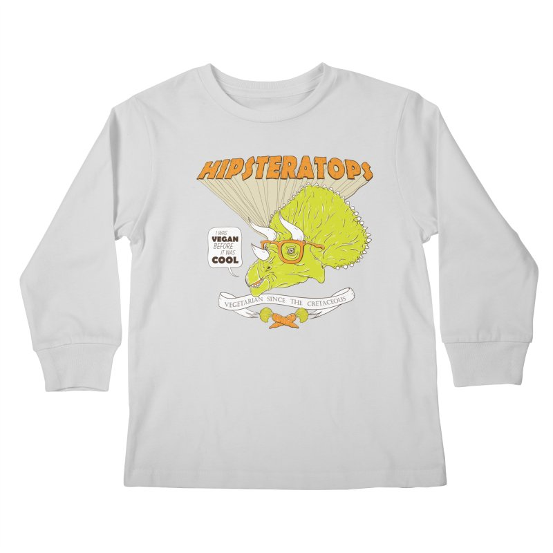 Hipsteratops Kids Longsleeve T-Shirt by buddynishi's Artist Shop