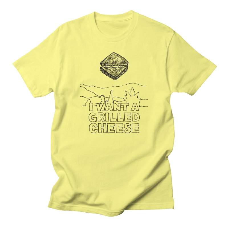 Mulder's Muenster Munchies in Men's Regular T-Shirt Lemon by Bud Made