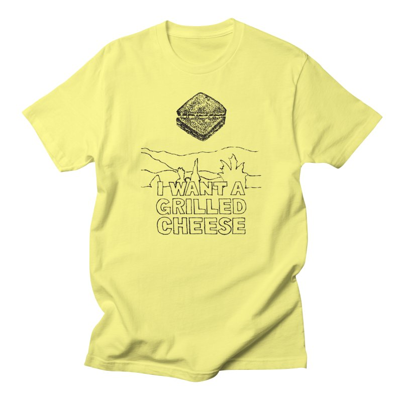 Mulder's Muenster Munchies in Women's Regular Unisex T-Shirt Lemon by Bud Made