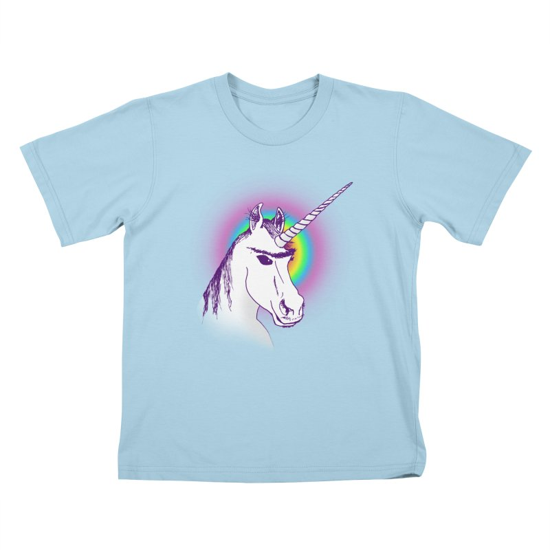 The Unibrowcorn Kids T-shirt by Bud Made