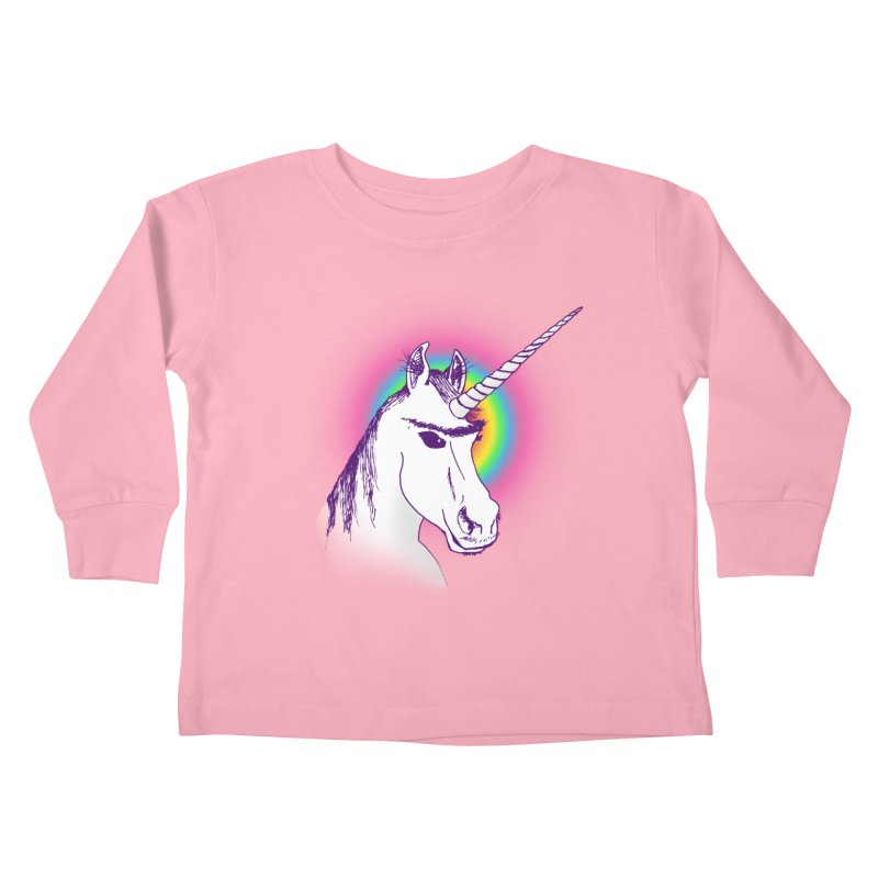 The Unibrowcorn Kids Toddler Longsleeve T-Shirt by Bud Made