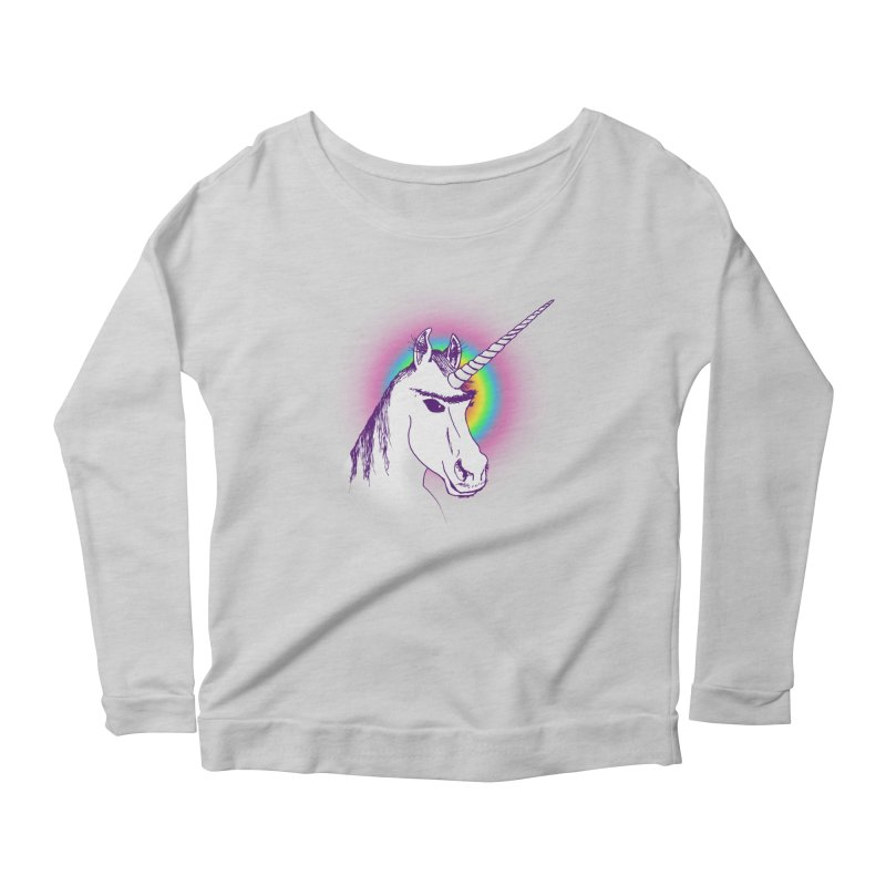 The Unibrowcorn Women's Longsleeve Scoopneck  by Bud Made