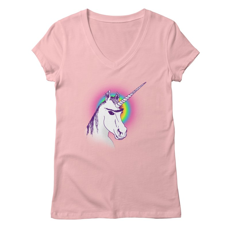 The Unibrowcorn Women's V-Neck by Bud Made