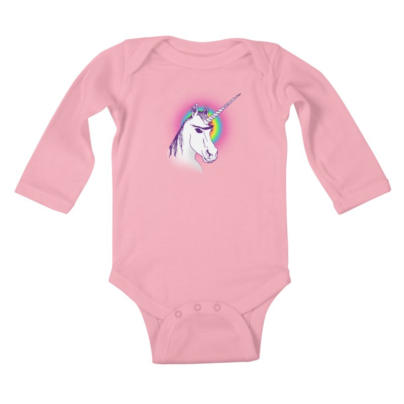 The Unibrowcorn Kids Baby Longsleeve Bodysuit by Bud Made