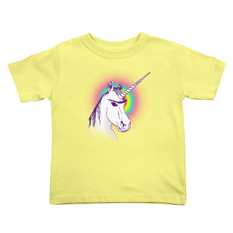 The Unibrowcorn Kids Toddler T-Shirt by Bud Made