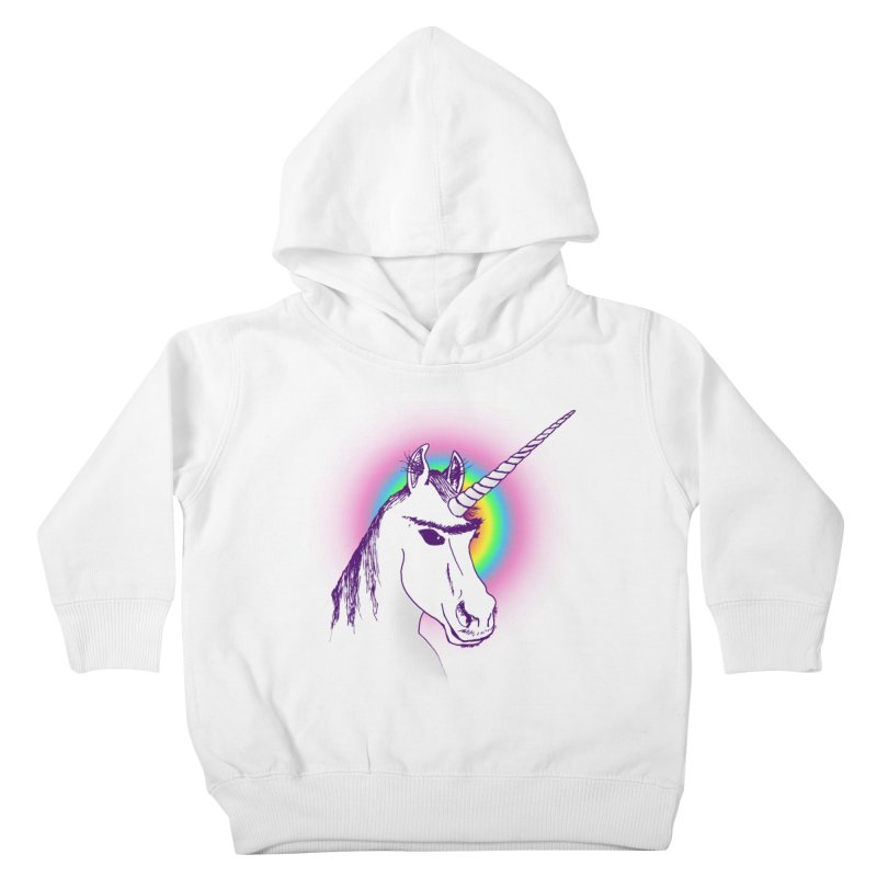 The Unibrowcorn Kids Toddler Pullover Hoody by Bud Made