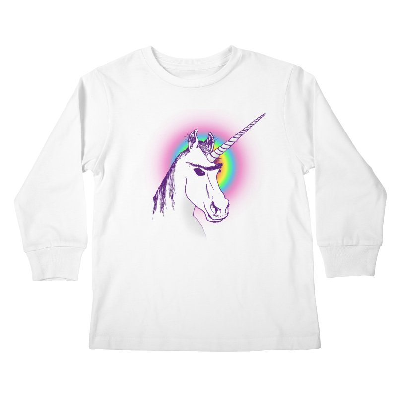 The Unibrowcorn Kids Longsleeve T-Shirt by Bud Made