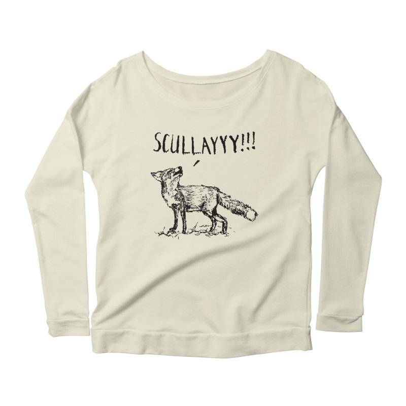 What a Certain Fox Says Women's Longsleeve Scoopneck  by Bud Made