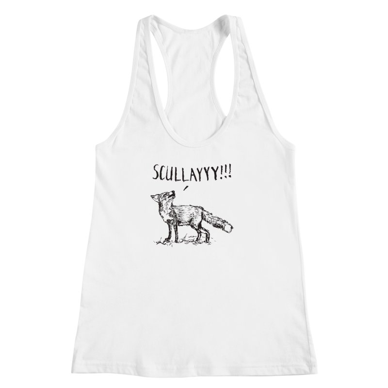 What a Certain Fox Says Women's Racerback Tank by Bud Made