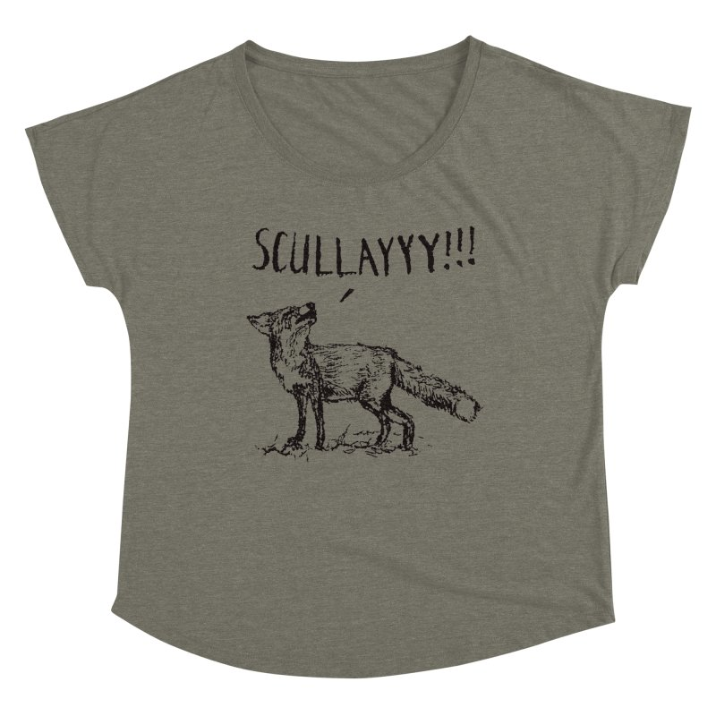 What a Certain Fox Says Women's Dolman Scoop Neck by Bud Made