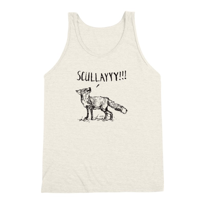 What a Certain Fox Says Men's Triblend Tank by Bud Made