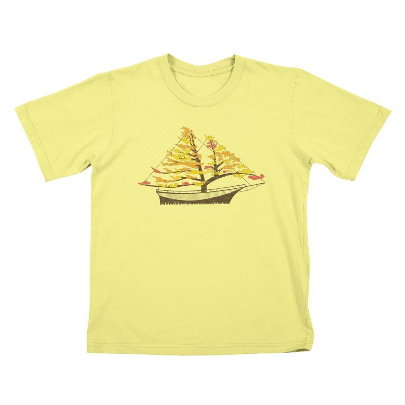 Autumn Cruise Kids T-shirt by Bud Made