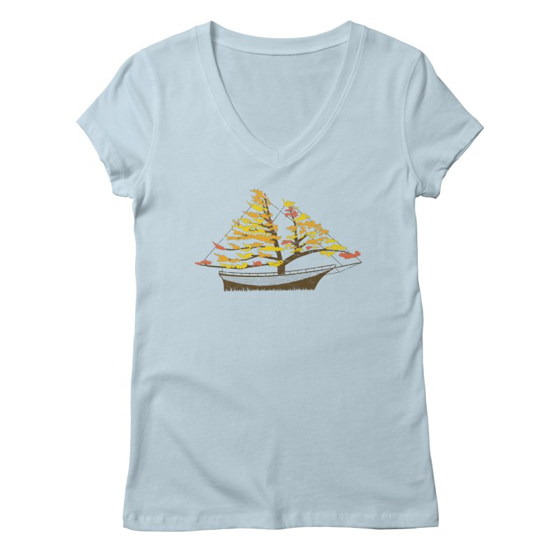 Autumn Cruise Women's V-Neck by Bud Made