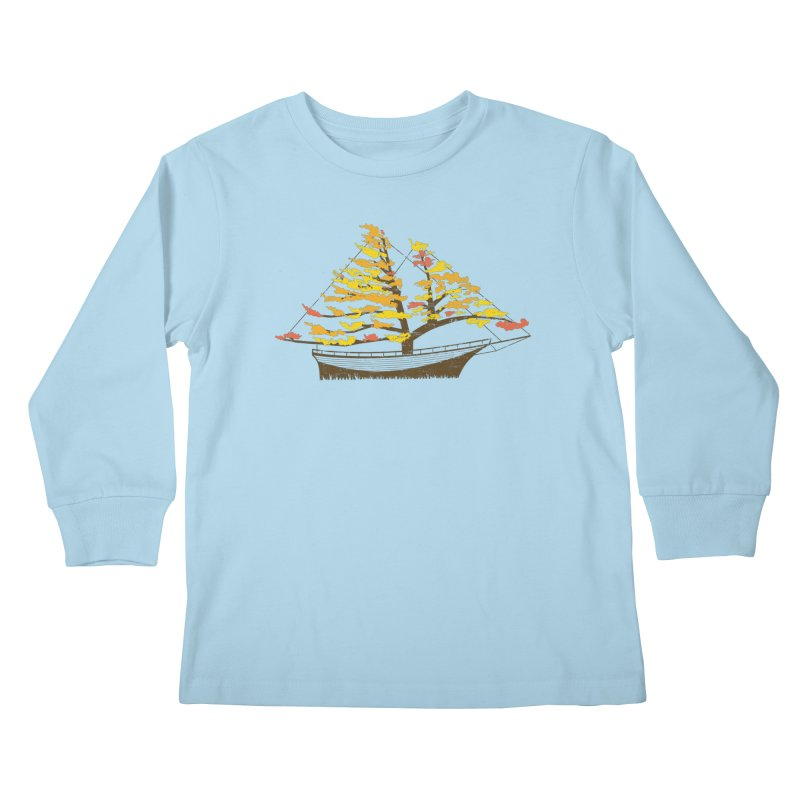 Autumn Cruise Kids Longsleeve T-Shirt by Bud Made