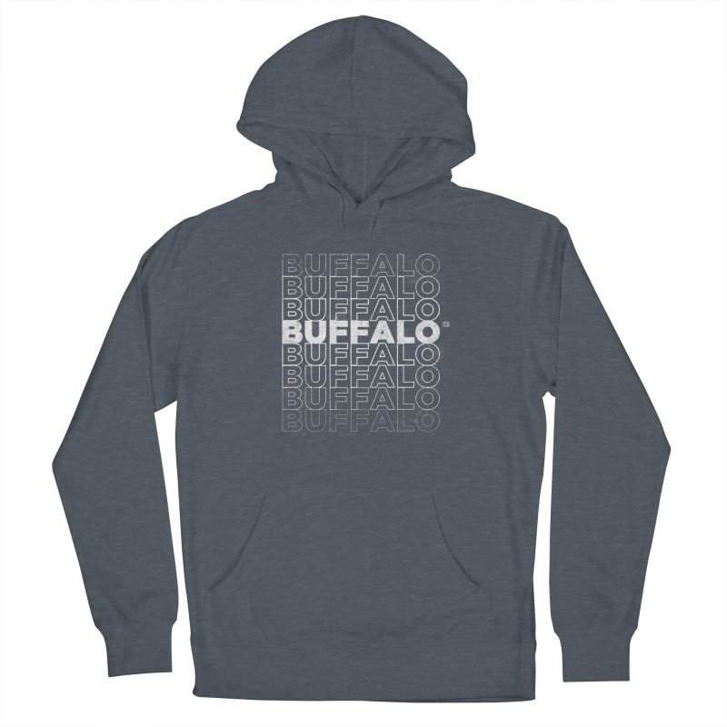 Buffalo Buffalo Retro Women's French Terry Pullover Hoody by Buffalo Buffalo Buffalo