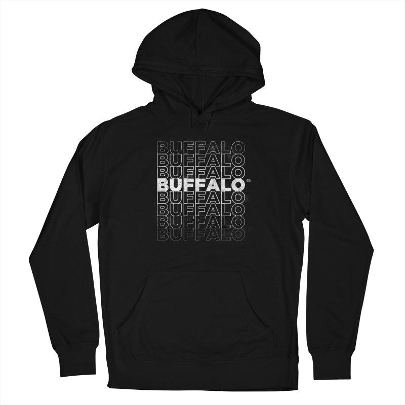 Buffalo Buffalo Retro Women's French Terry Pullover Hoody by Buffalo Buffalo Buffalo