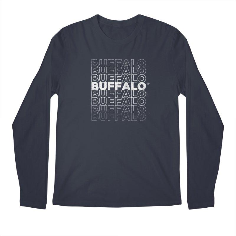 Buffalo Buffalo Retro Men's Longsleeve T-Shirt by Buffalo Buffalo Buffalo