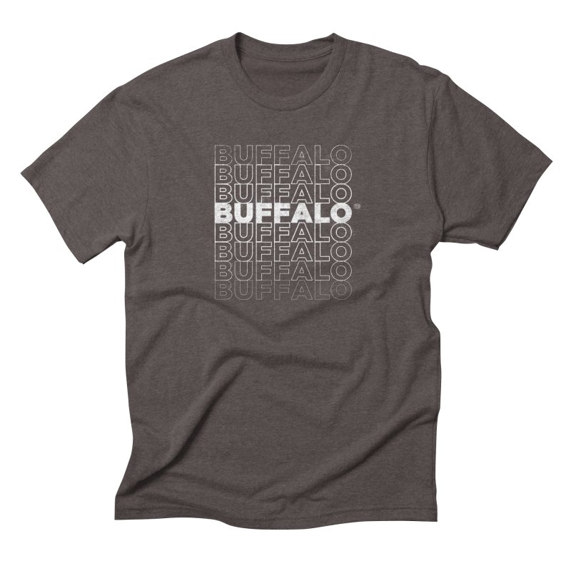Buffalo Buffalo Retro Men's Triblend T-Shirt by Buffalo Buffalo Buffalo