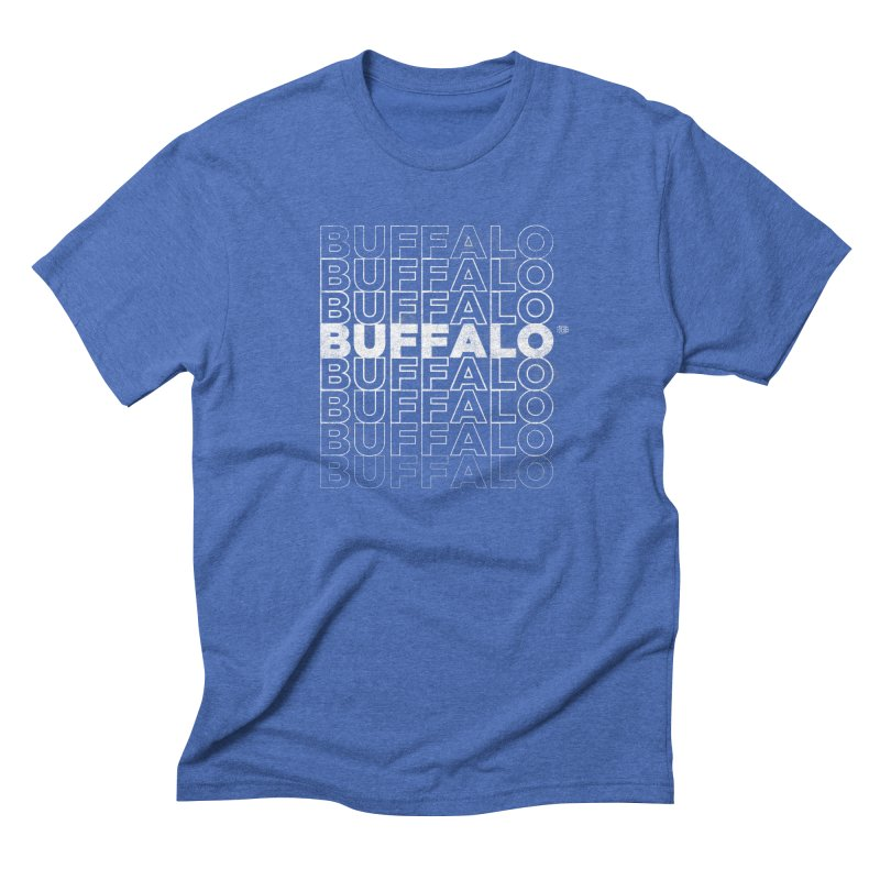 Buffalo Buffalo Retro Men's Triblend T-shirt by Buffalo Buffalo Buffalo