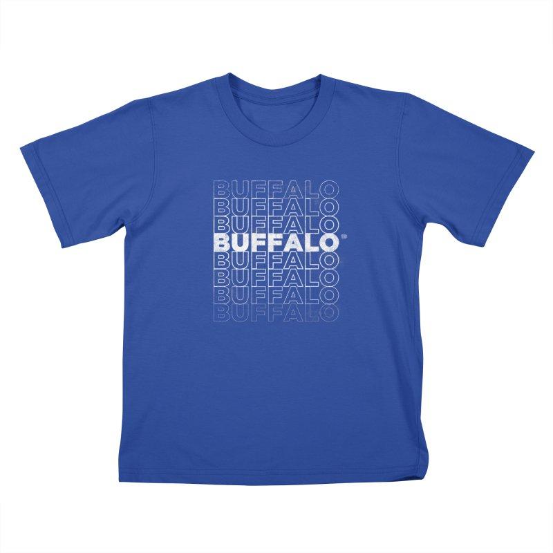 Buffalo Buffalo Retro Kids T-shirt by Buffalo Buffalo Buffalo