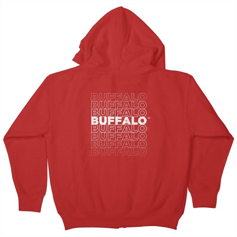 Buffalo Buffalo Retro Kids Zip-Up Hoody by Buffalo Buffalo Buffalo