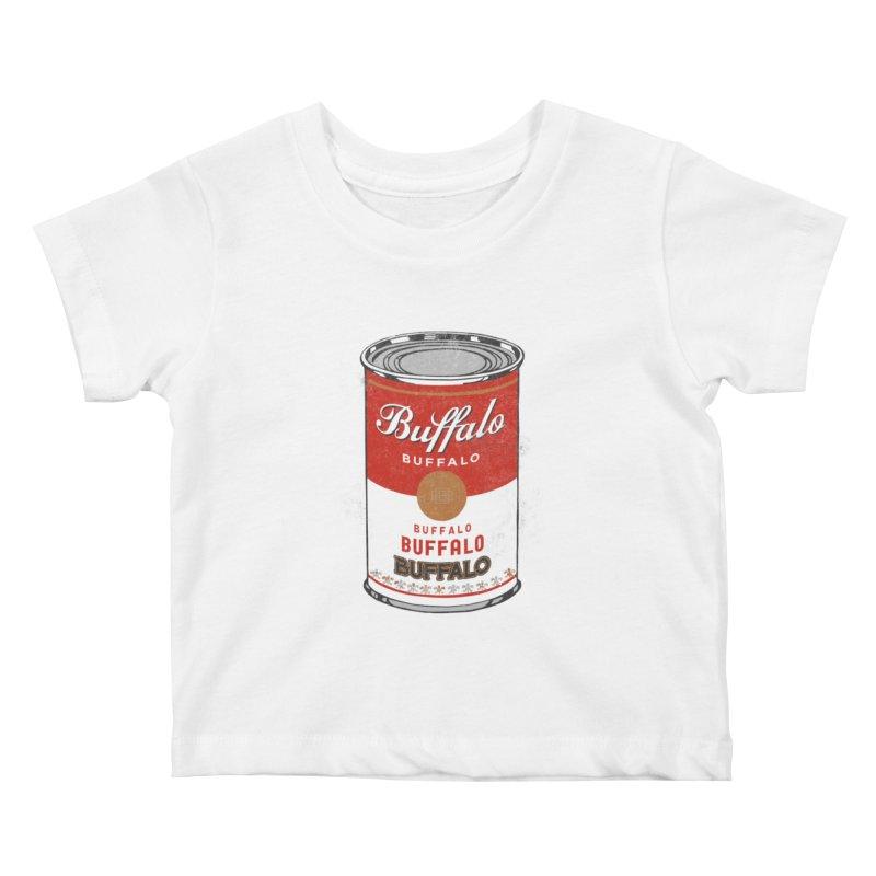 Buffalo Buffalo Soup Kids Baby T-Shirt by Buffalo Buffalo Buffalo