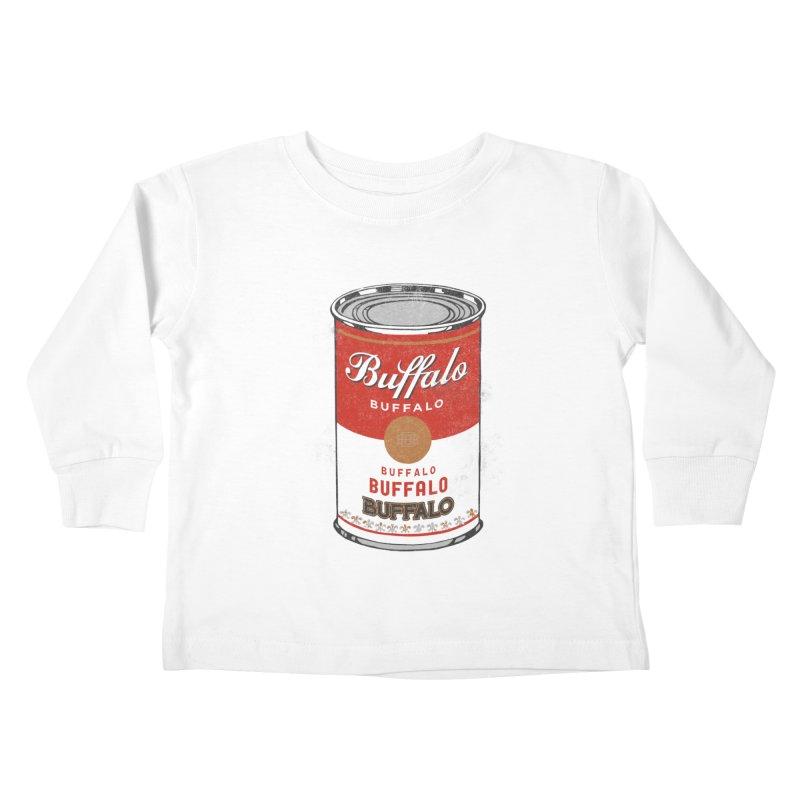 Buffalo Buffalo Soup Kids Toddler Longsleeve T-Shirt by Buffalo Buffalo Buffalo