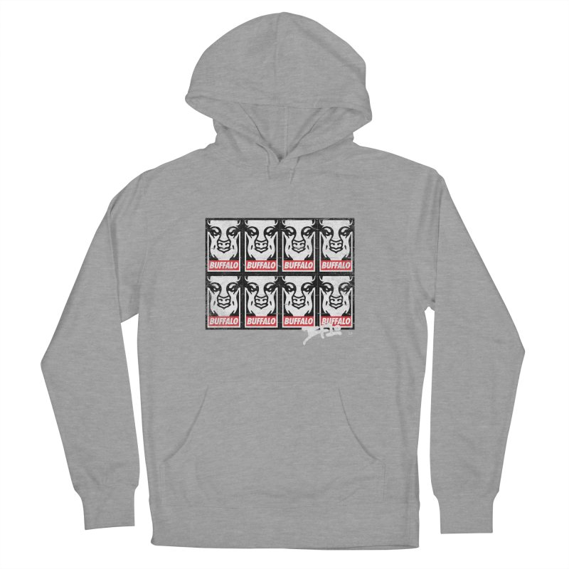 Obey Obey the Buffalo Buffalo Women's French Terry Pullover Hoody by Buffalo Buffalo Buffalo