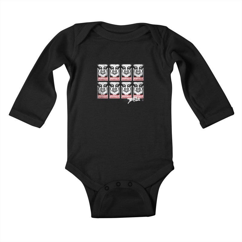 Obey Obey the Buffalo Buffalo Kids Baby Longsleeve Bodysuit by Buffalo Buffalo Buffalo