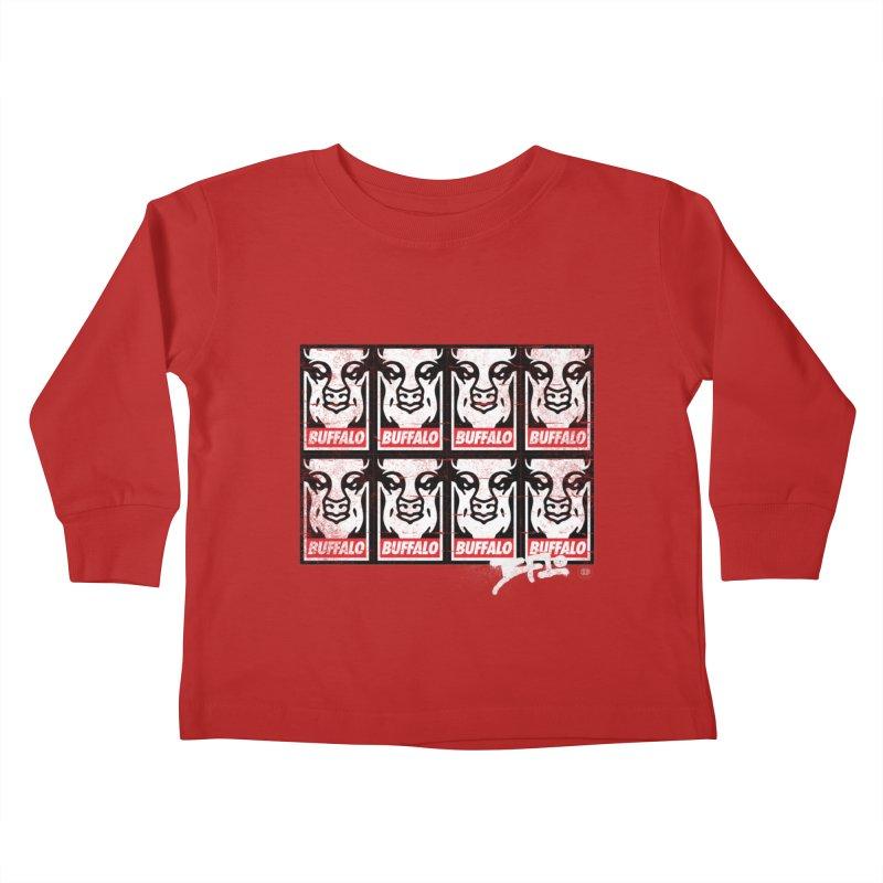 Obey Obey the Buffalo Buffalo Kids Toddler Longsleeve T-Shirt by Buffalo Buffalo Buffalo
