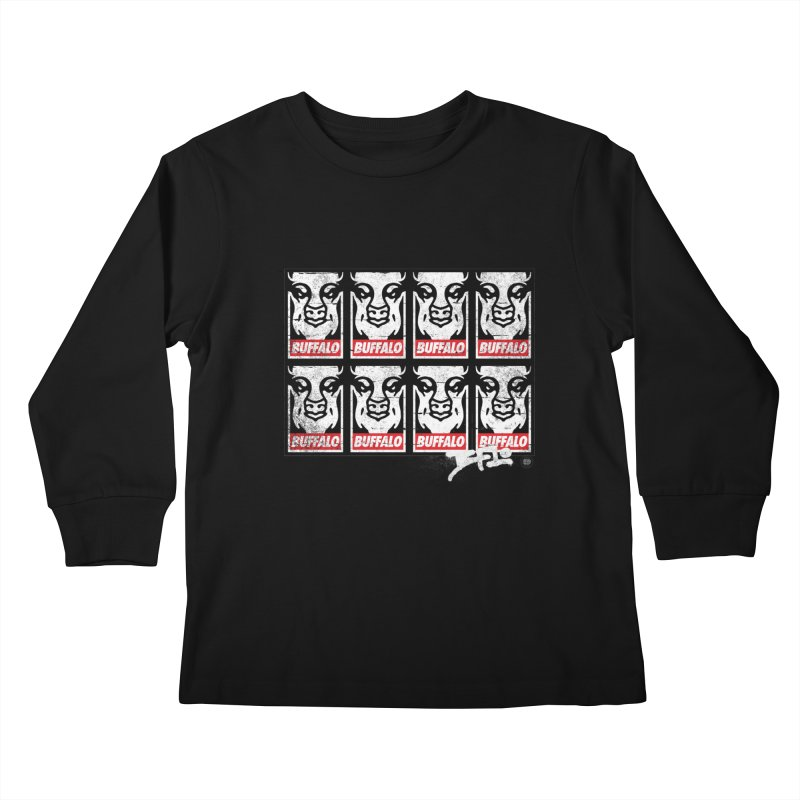Obey Obey the Buffalo Buffalo Kids Longsleeve T-Shirt by Buffalo Buffalo Buffalo