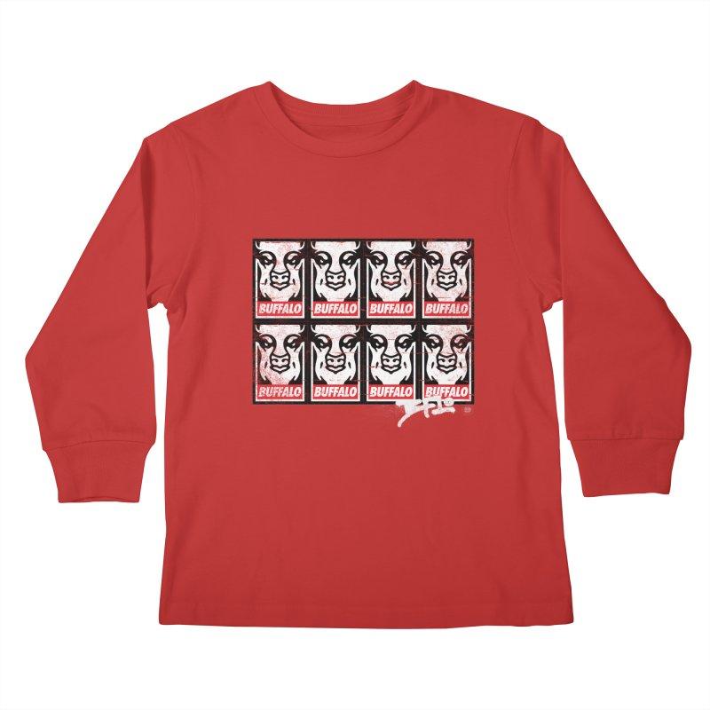 Obey Obey the Buffalo Buffalo Kids Longsleeve T-Shirt by Buffalo Buffalo Buffalo