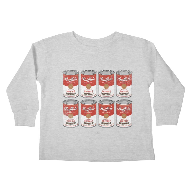 Buffalo Buffalo Soups Kids Toddler Longsleeve T-Shirt by Buffalo Buffalo Buffalo