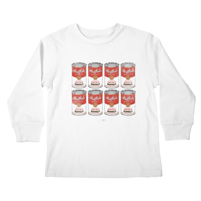 Buffalo Buffalo Soups Kids Longsleeve T-Shirt by Buffalo Buffalo Buffalo