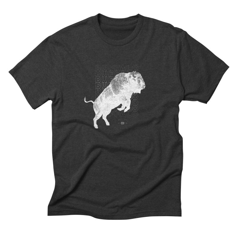 Buffalo Buffalo Bison Men's Triblend T-shirt by Buffalo Buffalo Buffalo