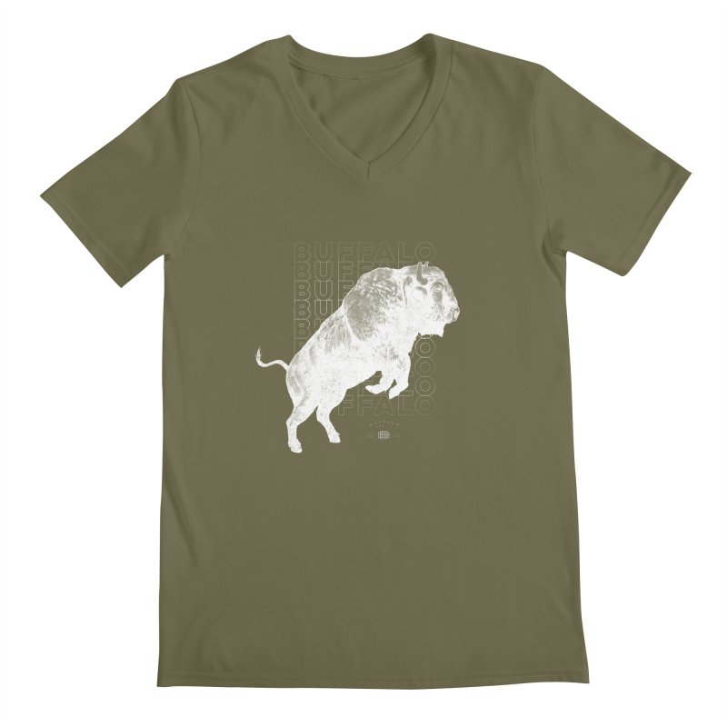 Buffalo Buffalo Bison Men's V-Neck by Buffalo Buffalo Buffalo