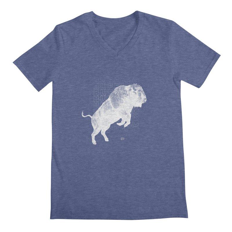Buffalo Buffalo Bison Men's V-Neck by Buffalo Buffalo Buffalo