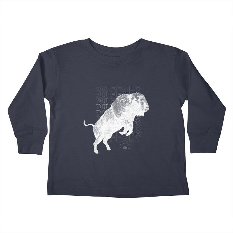 Buffalo Buffalo Bison Kids Toddler Longsleeve T-Shirt by Buffalo Buffalo Buffalo
