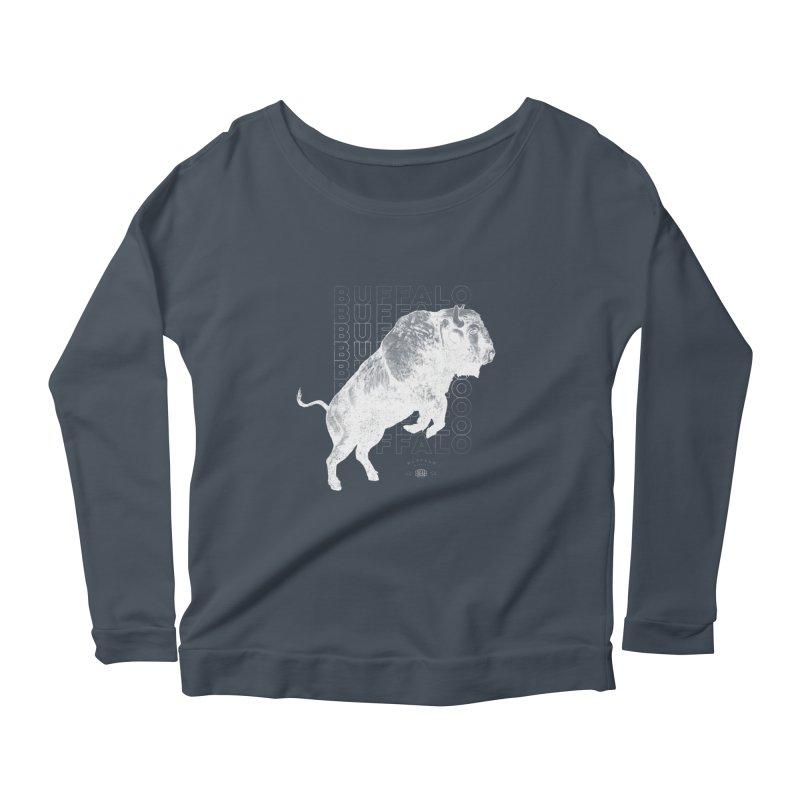 Buffalo Buffalo Bison Women's Scoop Neck Longsleeve T-Shirt by Buffalo Buffalo Buffalo