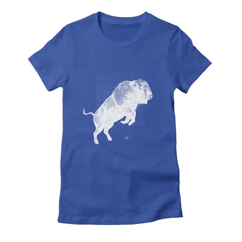 Buffalo Buffalo Bison Women's Fitted T-Shirt by Buffalo Buffalo Buffalo